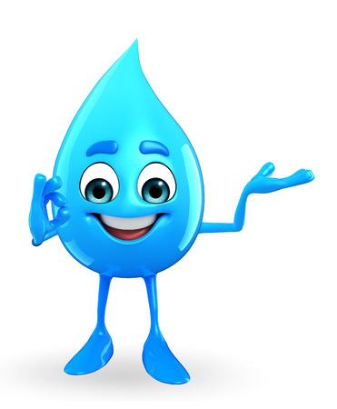 最高の署名と水滴の漫画キャラクター 写真素材