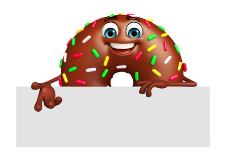 cartoonize: 3d rendered illustration of donuts cartoon character Stock Photo