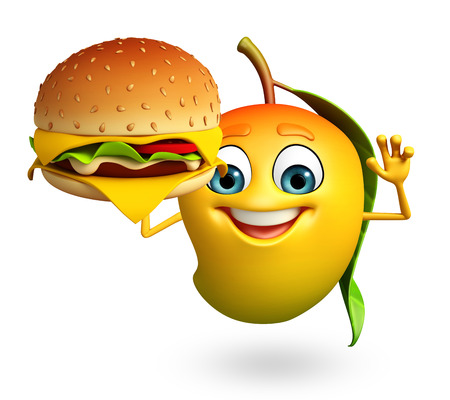 3d rendered illustration of mango cartoon character