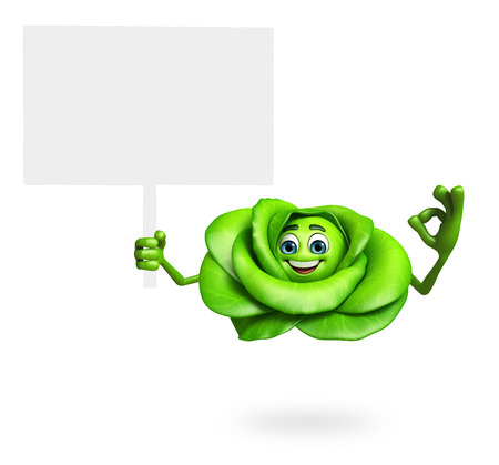antioxidant: 3d rendered illustration of cabbage cartoon character