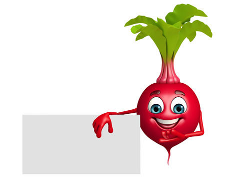 beet root: 3d rendered illustration of beet root cartoon character