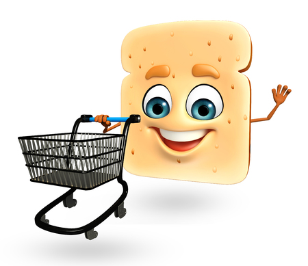 yeast: 3d rendered illustration of cartoon character of bread