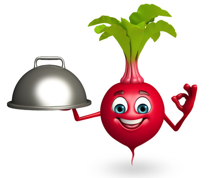 beet root: 3d rendered illustration of cartoon character of beet root