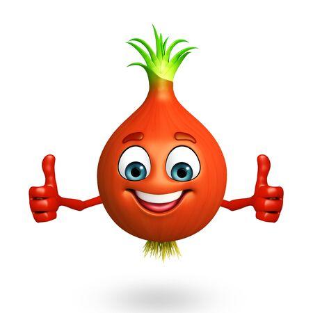3d rendered illustration of onion cartoon character Reklamní fotografie