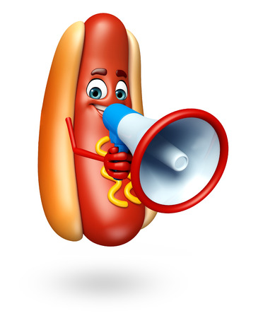 condiments: 3d rendered illustration of hot dog cartoon character