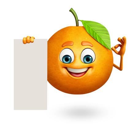 cartoon orange: 3d rendered illustration of orange cartoon character