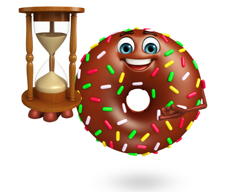 nourishing: 3d rendered illustration of donuts cartoon character Stock Photo