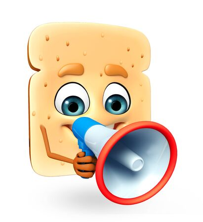 yeast: 3d rendered illustration of bread cartoon character