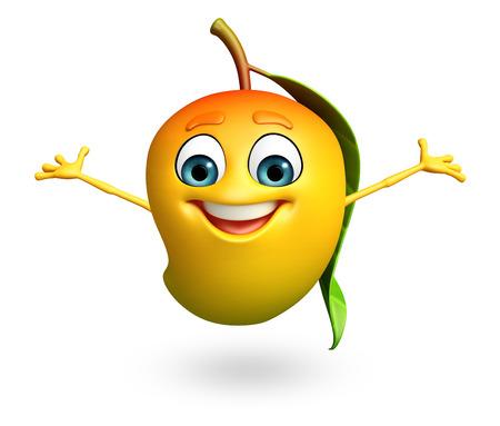mango: 3d świadczonych ilustracja postać z kreskówki z mango