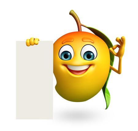 mango: 3d rendered illustration of mango cartoon character