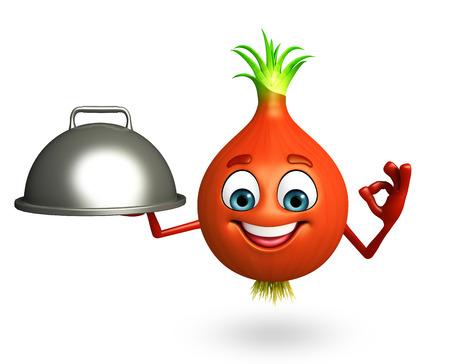 sweet segments: 3d rendered illustration of onion cartoon character