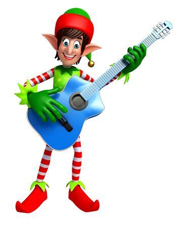 elves: 3d rendered illustration of elves with guitar