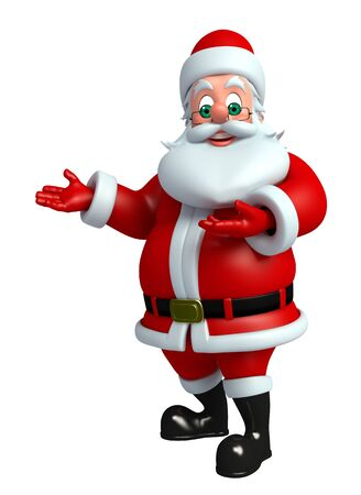 toy sack: 3d rendered illustration of santa claus Stock Photo