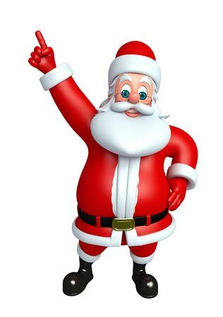 3d rendered illustration of santa claus Stock Photo