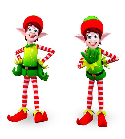 three wishes: 3d rendered illustration of elves
