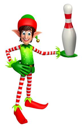 elves: 3d rendered illustration of elves with juggling club