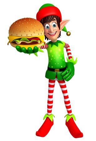 elves: 3d rendered illustration of elves with burger