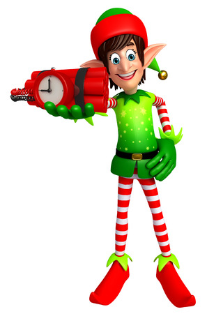 elves: 3d rendered illustration of elves with time bomb