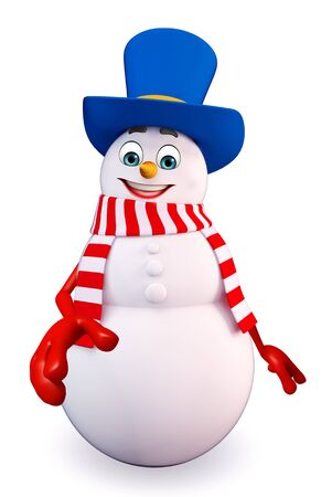 three wishes: 3d rendered illustration of snowman