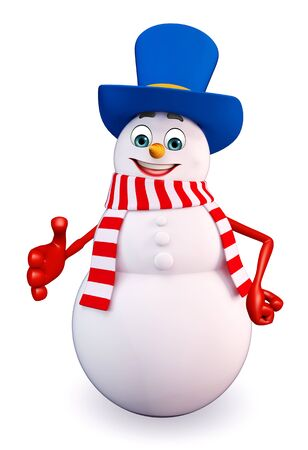 snowman 3d: 3d rendered illustration of snowman