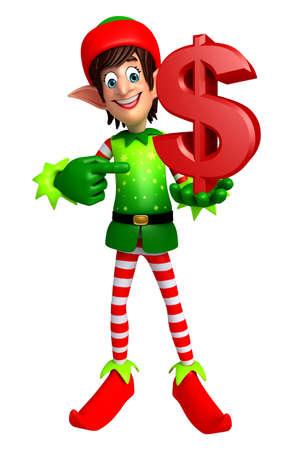 elves: 3d rendered illustration of elves with dollar
