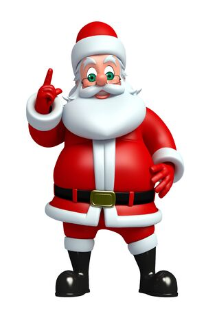 three wishes: 3d rendered illustration of santa claus Stock Photo