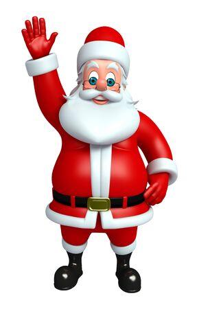 wishlist: 3d rendered illustration of santa claus Stock Photo