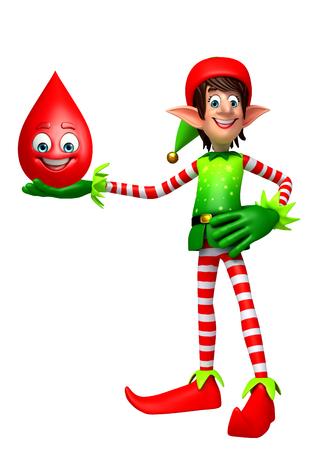 elves: 3d rendered illustration of elves with blood drop