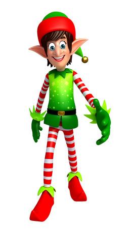 duendes de navidad: 3d rindió la ilustración de los elfos Foto de archivo