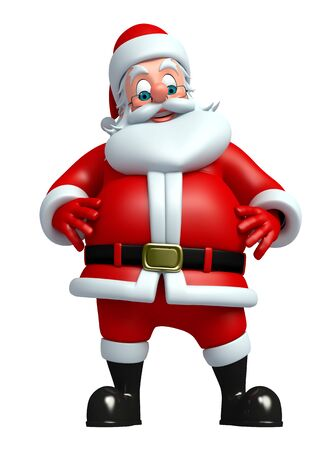 toys clipart: 3d rendered illustration of santa claus Stock Photo