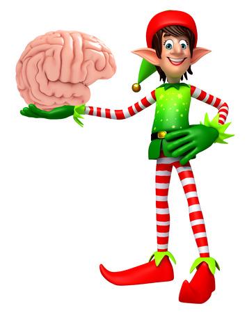 elves: 3d rendered illustration of elves with brain