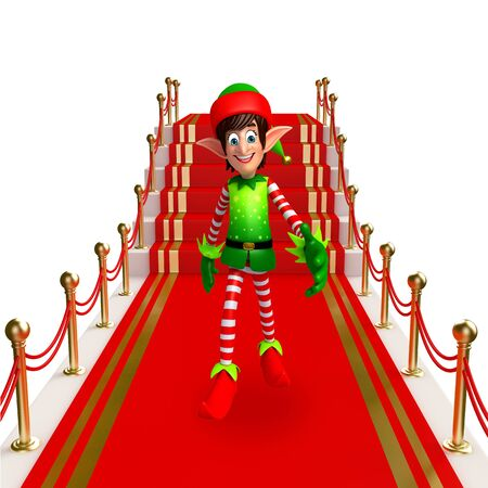 three wishes: 3d rendered illustration of elves on the red carpet