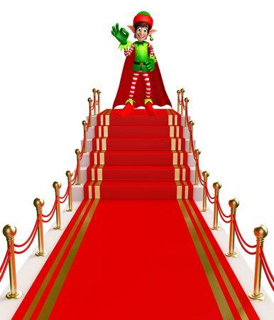 elves: 3d rendered illustration of elves on red carpet Stock Photo