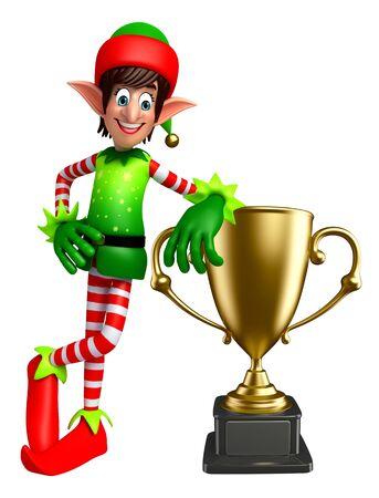 elves: 3d rendered illustration of elves with trophy