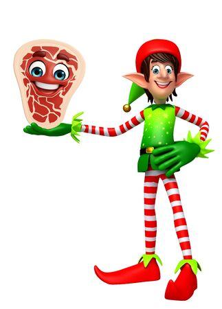 elves: 3d rendered illustration of elves with meat steak