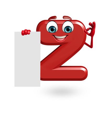 3d rendered illustration of alphabet Z Cartoon Character with sign