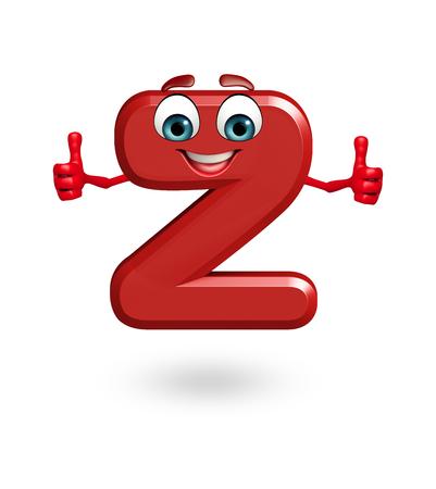 3d rendered illustration of alphabet Z Cartoon Character