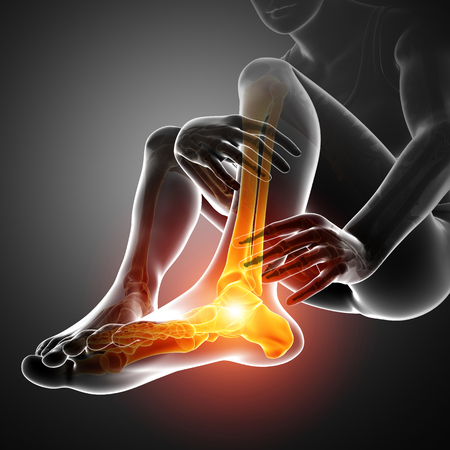3d Illustration of Male foot with ankle pain Reklamní fotografie