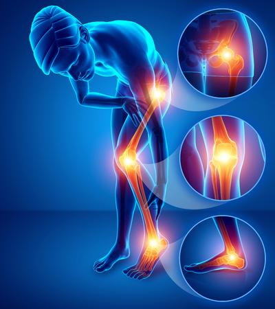 3d Illustration of male feeling Leg pain