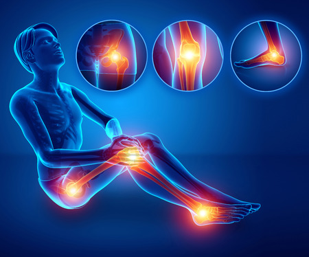 3d illustratie van mannelijke gevoel been pijn Stockfoto - 73769563