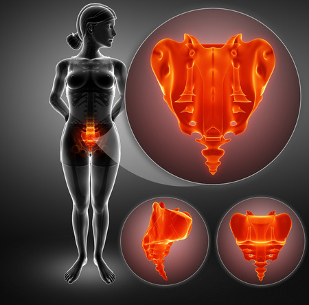 3d ilustrace bolestí kostí Reklamní fotografie