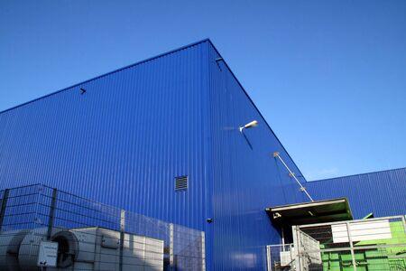 blau: Lagerhalle, industrial hall