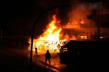 deletes: Big fire