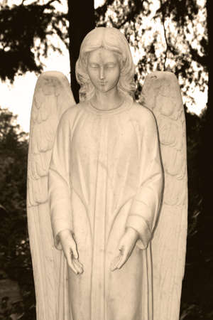 angel of death: tomb Stock Photo