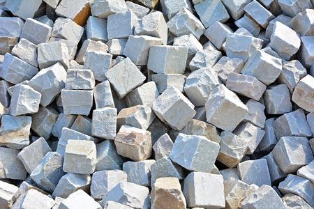 many grey Granite cobblestoned background for ground photo