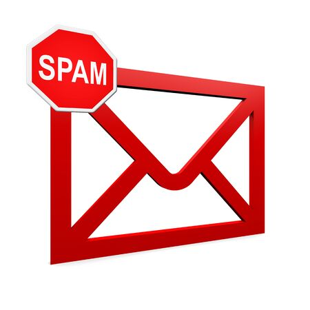 spam mail: spam mail Stock Photo