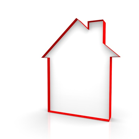 house outline: House outline red