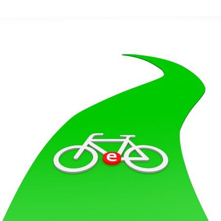 e-bike sign on green path