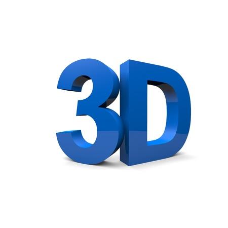 3d: 3D word Stock Photo