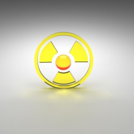 nuke plant: radioactive Stock Photo